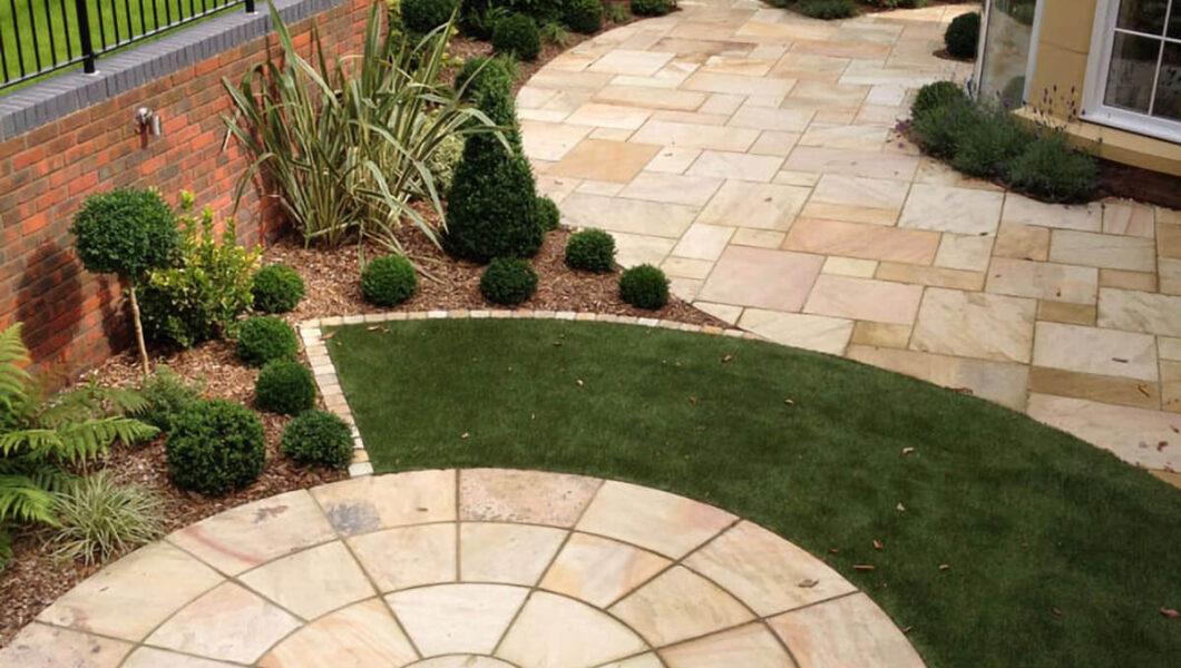 Garden patio design